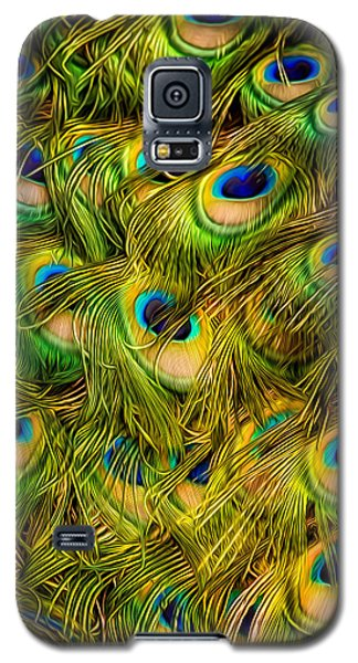 Galaxy S5 Case featuring the photograph Peacock Tails by Rikk Flohr