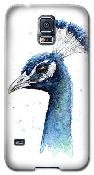 Peacock Watercolor Galaxy S5 Case