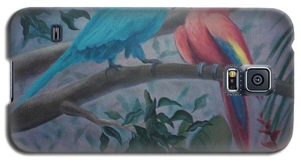 Peacocks In The Jungle Galaxy S5 Case