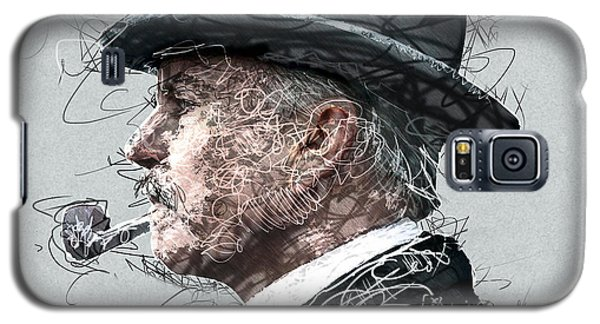 Galaxy S5 Case featuring the painting Peaky Blinders Scribble by Jean Moore