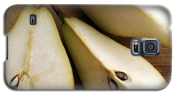 Galaxy S5 Case featuring the digital art Pear Cut In Three by Jana Russon
