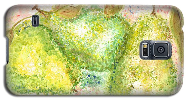 Galaxy S5 Case featuring the painting Pear Trio by Paula Ayers