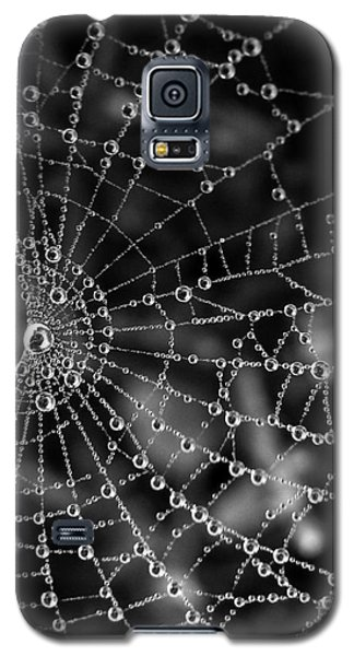 Galaxy S5 Case featuring the photograph Pearls In Black And White by Misha Bean