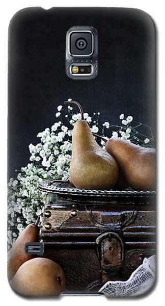 Galaxy S5 Case featuring the photograph Pears And Baby's Breath by Stephanie Frey