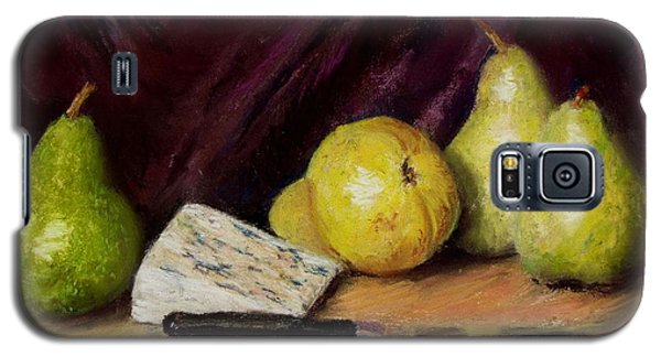 Galaxy S5 Case featuring the pastel Pears And Cheese by Jack Skinner