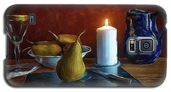 Galaxy S5 Case featuring the photograph Pears By Candlelight by Mark Fuller