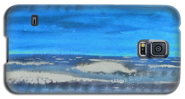 Galaxy S5 Case featuring the painting Peau De Mer by Marc Philippe Joly