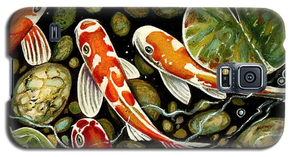 Pebbles And Koi Galaxy S5 Case