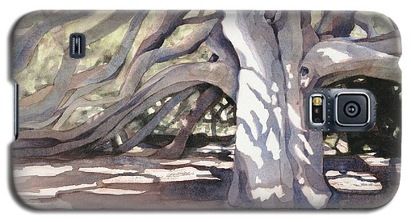 Galaxy S5 Case featuring the painting Pechanga Great Oak by Bonnie Rinier
