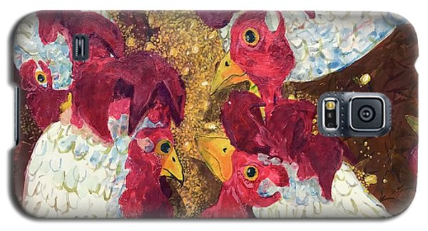 Galaxy S5 Case featuring the painting Pecking Order by Jame Hayes