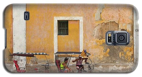 Galaxy S5 Case featuring the photograph Pedicabs At Convento De Santa Clara Havana Cuba by Charles Harden