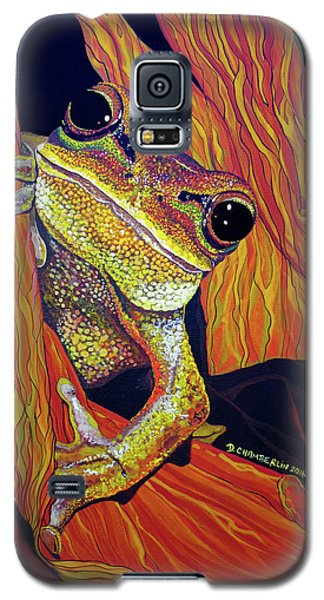 Galaxy S5 Case featuring the painting Peek A Boo by Debbie Chamberlin