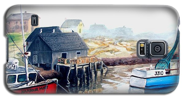 Galaxy S5 Case featuring the painting Peggy's Cove Harbour by Patricia L Davidson
