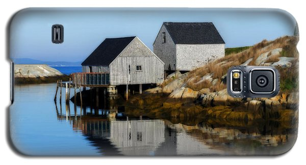 Peggys Cove Marina With Fishing Houses  Galaxy S5 Case
