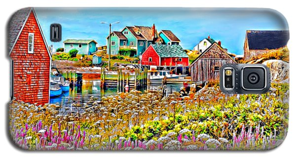 Peggy's Cove Wildflower Harbour Galaxy S5 Case