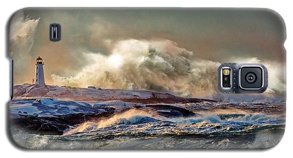 Peggy's Cove Winter Storm - Nova Scotia Galaxy S5 Case