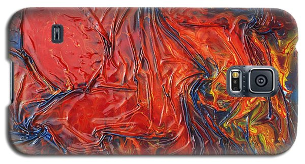 Galaxy S5 Case featuring the mixed media Pele by Angela Stout