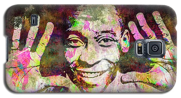 Galaxy S5 Case featuring the mixed media Pele by Svelby Art
