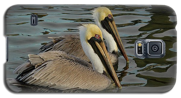 Galaxy S5 Case featuring the photograph Pelican Duo by Jean Noren