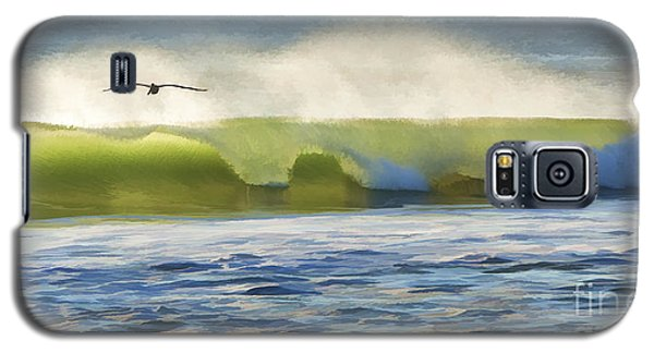 Pelican Flying Over Wind Wave Galaxy S5 Case by John A Rodriguez