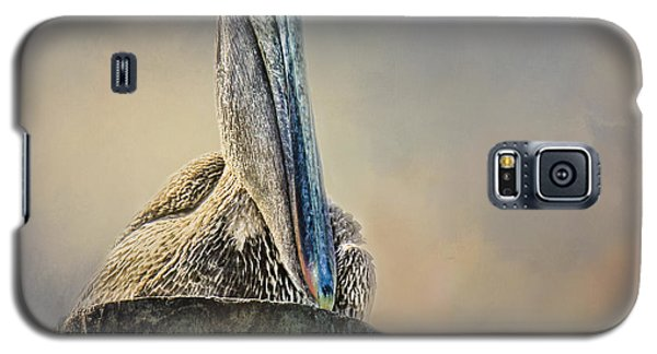 Pelican In Paradise Squared Galaxy S5 Case by TK Goforth