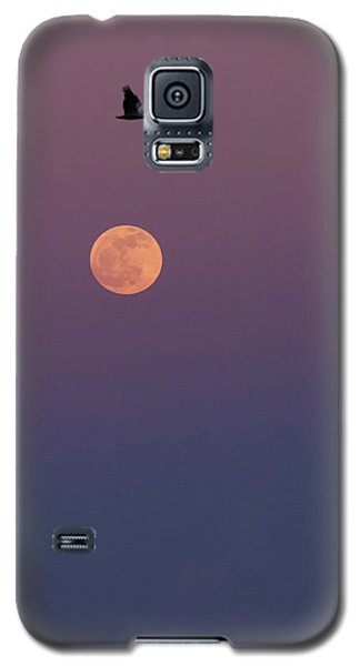 Pelican Over The Moon Galaxy S5 Case