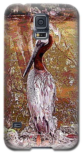 Galaxy S5 Case featuring the photograph Pelican Posed by Martha Ayotte