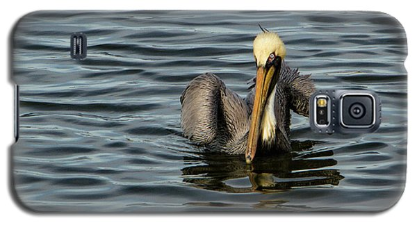 Galaxy S5 Case featuring the photograph Pelican Wing In A  Twist by Jean Noren