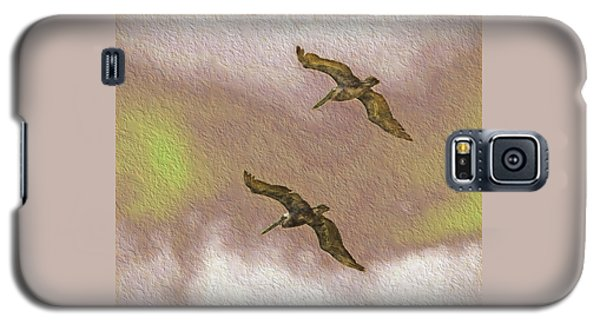 Pelicans On Cave Wall Galaxy S5 Case