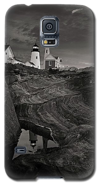 Pemaquid Lighthouse At Dawn Black And White Galaxy S5 Case