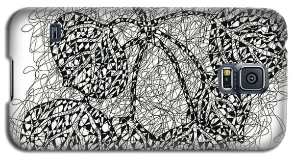 Pen And Ink Drawing Of Aspen Leaves Galaxy S5 Case