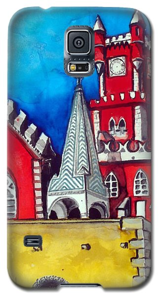 Pena Palace In Portugal Galaxy S5 Case by Dora Hathazi Mendes
