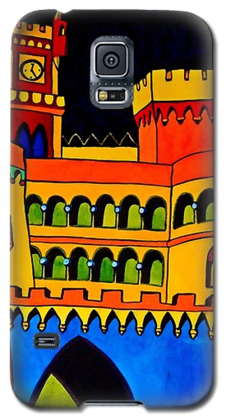 Galaxy S5 Case featuring the painting Pena Palace Portugal by Dora Hathazi Mendes