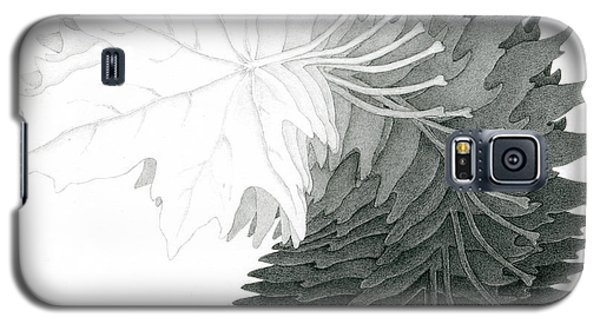 Pencil Drawing Of Maple Leaves Galaxy S5 Case