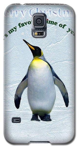 Penguin Christmas Galaxy S5 Case by Steve Karol