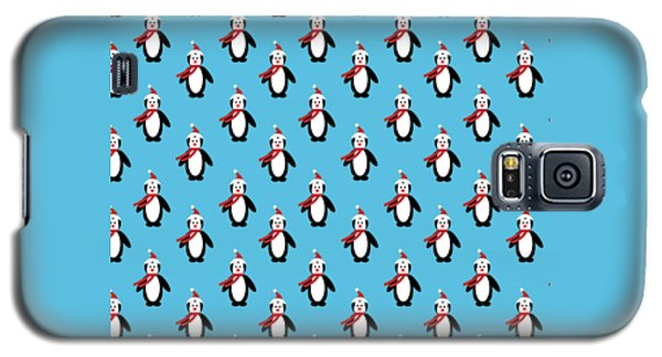 Penguin Pattern With Changeable Background Galaxy S5 Case by Sebastien Coell