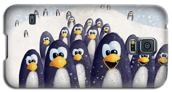 Penguin Winter Galaxy S5 Case