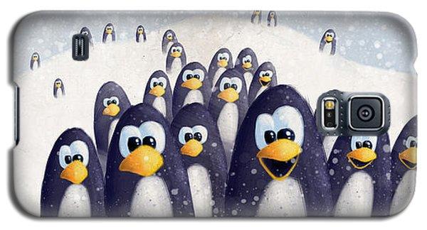 Penguin Winter Galaxy S5 Case by David Breeding