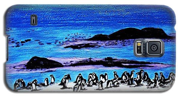 Penguins Land Galaxy S5 Case