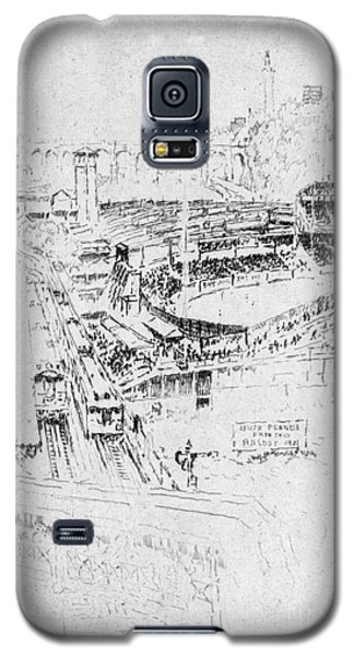 Galaxy S5 Case featuring the drawing Pennell Polo Grounds 1921 by Granger