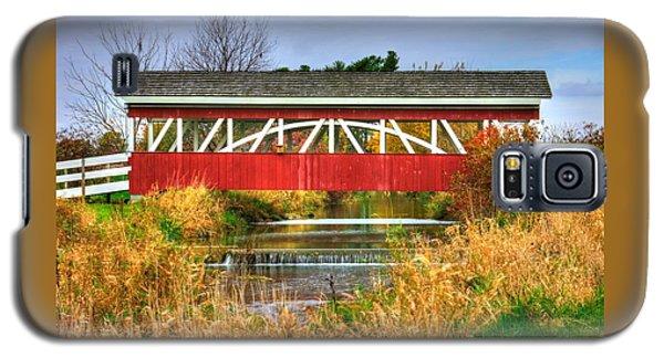 Pennsylvania Country Roads - Oregon Dairy Covered Bridge Over Shirks Run - Lancaster County Galaxy S5 Case