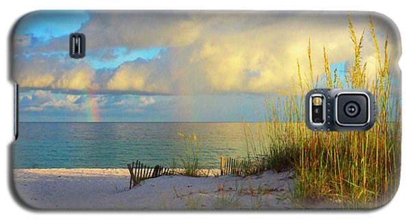 Pensacola Rainbow At Sunset Galaxy S5 Case by Marie Hicks