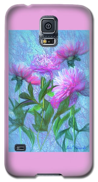 Galaxy S5 Case featuring the digital art Peonies #3 by John Selmer Sr