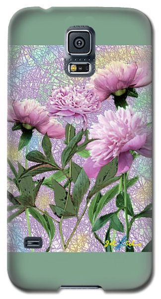 Galaxy S5 Case featuring the digital art Peonies 6 by John Selmer Sr
