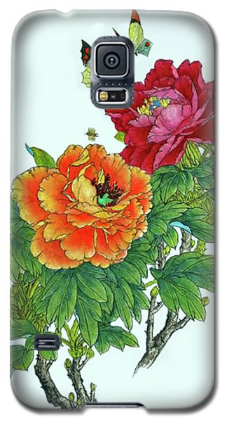 Peonies And Butterflies Galaxy S5 Case