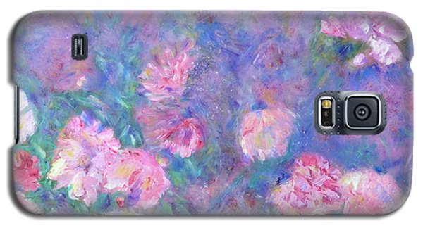 Galaxy S5 Case featuring the painting Peonies by Claire Bull