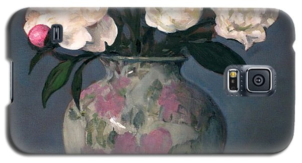 Peonies In Floral Vase With Red Apple Galaxy S5 Case