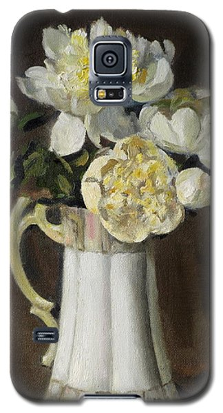 Peonies In Fluted Japanese Coffeepot Galaxy S5 Case