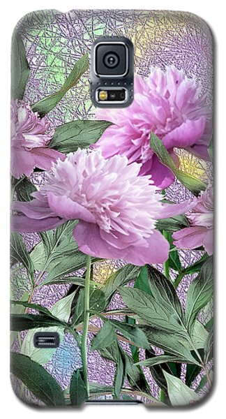 Galaxy S5 Case featuring the digital art Peonies by John Selmer Sr