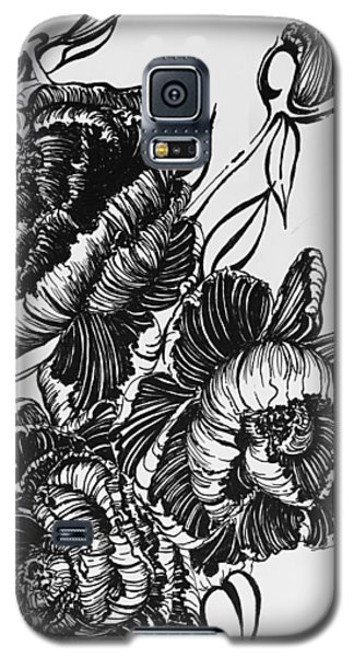 Peonies Line Drawing Galaxy S5 Case